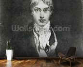 Self portrait, 1798 (oil on canvas) (b/w photo) wall mural kitchen preview
