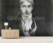 Self portrait, 1798 (oil on canvas) (b/w photo) wall mural living room preview