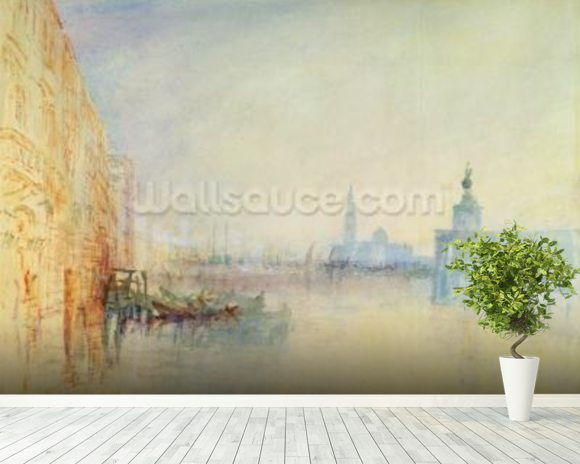 Venice, The Mouth of the Grand Canal, c.1840 (w/c on paper) wallpaper mural room setting