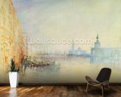 Venice, The Mouth of the Grand Canal, c.1840 (w/c on paper) wallpaper mural kitchen preview