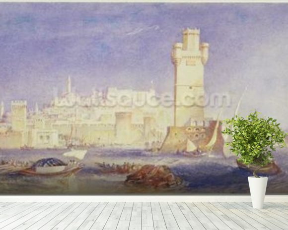 Rhodes, c.1823-24 (w/c & bodycolour on paper) wall mural room setting