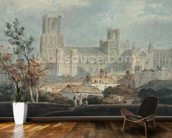 View of Ely Cathedral (pencil & w/c on paper) mural wallpaper kitchen preview
