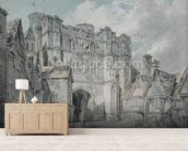 Christ Church Gate, Canterbury, 1793-94 (w/c on paper) wall mural living room preview