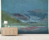 River bank, c.1830 (w/c on paper) wallpaper mural living room preview