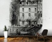 Napoleons Lodgings on the Quai Conti, 1834-36 (engraving) wall mural kitchen preview