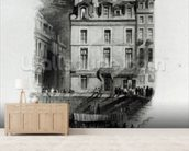 Napoleons Lodgings on the Quai Conti, 1834-36 (engraving) wall mural living room preview