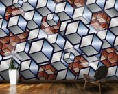 Metal Cubes wall mural kitchen preview