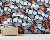 Metal Cubes wall mural living room preview
