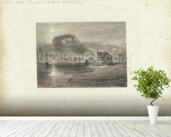 Colchester, Essex (engraving) wallpaper mural room setting