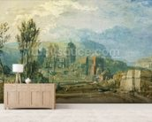 Tours, Sunset: Looking Backwards, c.1826-30 (gouache and w/c with pen & ink over graphite on paper) mural wallpaper living room preview