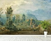 Tours, Sunset: Looking Backwards, c.1826-30 (gouache and w/c with pen & ink over graphite on paper) mural wallpaper in-room view