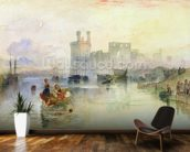 View of Carnarvon Castle (w/c on paper) wall mural kitchen preview