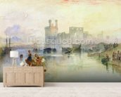 View of Carnarvon Castle (w/c on paper) wall mural living room preview