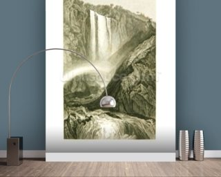 Cascade of Terni, c.1820 (litho) wallpaper mural