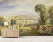 Richmond Hill and Bridge, Surrey, c.1831 (w/c on paper) wall mural living room preview