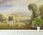 Richmond Hill and Bridge, Surrey, c.1831 (w/c on paper) wall mural in-room view