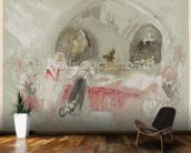 Service in the chapel at Petworth, 1830 (gouache) wall mural kitchen preview