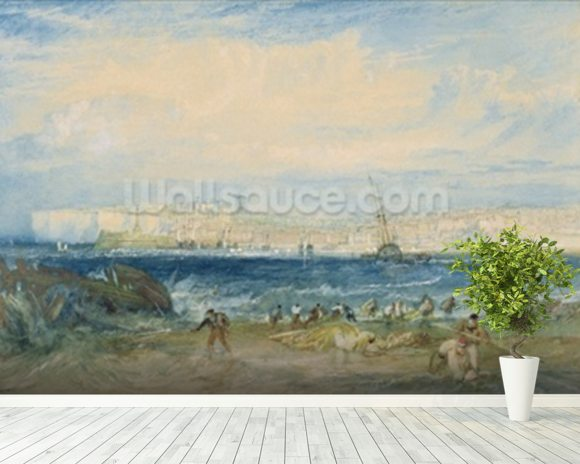 Margate, c.1822 (w/c & scraping out on wove paper) mural wallpaper room setting