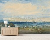 Margate, c.1822 (w/c & scraping out on wove paper) mural wallpaper living room preview