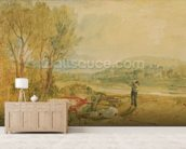 Lulworth Castle, Dorset, c.1820 (w/c with scratching out on wove paper) wall mural living room preview