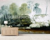 On the Washburn: A Study, c.1815 (w/c and graphite on paper) mural wallpaper living room preview