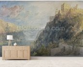 Rheinfels looking to Katz and Gourhausen, 1817 (w/c & gouache on paper) wallpaper mural living room preview