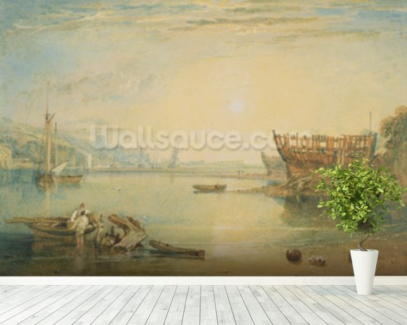 Teignmouth, Devonshire, c.1813 (w/c on paper) mural wallpaper room setting