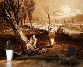 Hedging and Ditching, c.1860 (etching) wallpaper mural kitchen preview