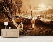 Hedging and Ditching, c.1860 (etching) wallpaper mural living room preview