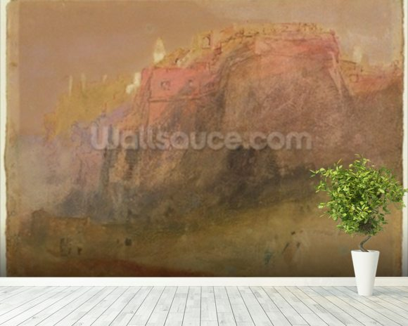 Luxembourg, c.1825 (w/c, gouache & pen on paper) mural wallpaper room setting