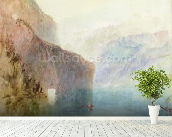 Tells Chapel, Lake Lucerne, c.1841 (w/c with pen on paper) wall mural room setting