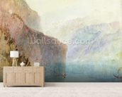 Tells Chapel, Lake Lucerne, c.1841 (w/c with pen on paper) wall mural living room preview