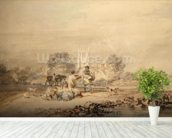 Autumn Sowing of the Grain, c.1794 (w/c over graphite on paper) wallpaper mural in-room view