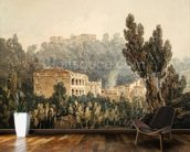 In the Valley near Vietri, c.1794 (w/c over graphite on paper) mural wallpaper kitchen preview