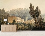 In the Valley near Vietri, c.1794 (w/c over graphite on paper) mural wallpaper living room preview