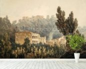 In the Valley near Vietri, c.1794 (w/c over graphite on paper) mural wallpaper in-room view