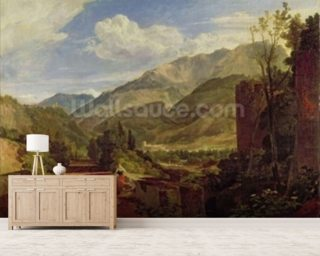 Chateau de St. Michael, Bonneville, Savoy, 1803 (oil on canvas) mural wallpaper