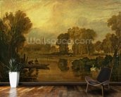 Eton College from the River, or The Thames at Eton, c.1808 wallpaper mural kitchen preview