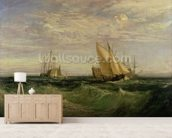 The Confluence of the Thames and the Medway, c.1808 mural wallpaper living room preview