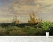 The Confluence of the Thames and the Medway, c.1808 mural wallpaper in-room view