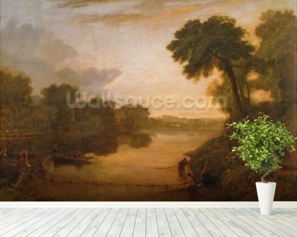 The Thames near Windsor, c.1807 wall mural room setting