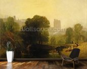 Near the Thames Lock, Windsor, c.1809 mural wallpaper kitchen preview