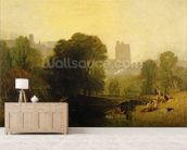 Near the Thames Lock, Windsor, c.1809 mural wallpaper living room preview
