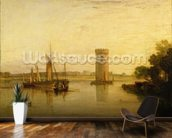 Tabley, the Seat of Sir J.F. Leicester, Bart.: Calm Morning, c.1809 wall mural kitchen preview