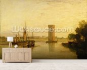 Tabley, the Seat of Sir J.F. Leicester, Bart.: Calm Morning, c.1809 wall mural living room preview