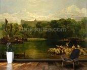 Windsor Castle from the Thames, c.1805 wallpaper mural kitchen preview