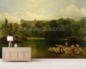 Windsor Castle from the Thames, c.1805 wallpaper mural living room preview