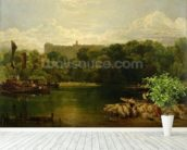 Windsor Castle from the Thames, c.1805 wallpaper mural in-room view