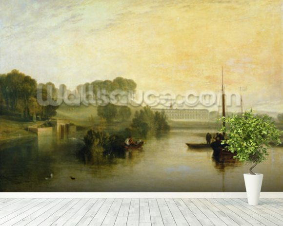 Petworth, Sussex, the Seat of the Earl of Egremont: Dewy Morning, 1810 (oil on canvas) mural wallpaper room setting