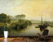Petworth, Sussex, the Seat of the Earl of Egremont: Dewy Morning, 1810 (oil on canvas) mural wallpaper kitchen preview